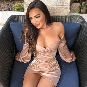 Nude Fashion Nova dress